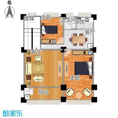 两室两厅一厨一卫一阳台80平方