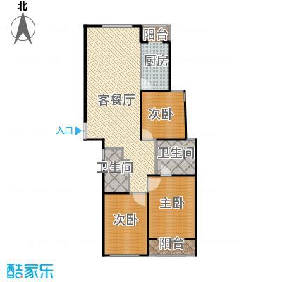 新-瑞宝国际花苑157.16㎡G3户型3室2厅2卫-副本的复制方案