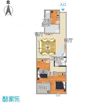 曼哈顿三室两厅105方