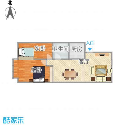 吴宝新村的户型图2