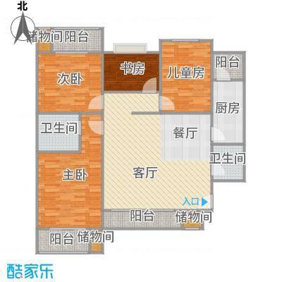 新国展国际公寓130平D3户型4室2厅2卫