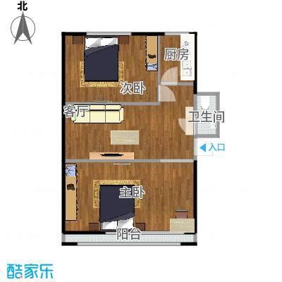 54.7两室一厅