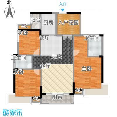 香市1号126.00㎡2栋标准层0C2面积12600m户型