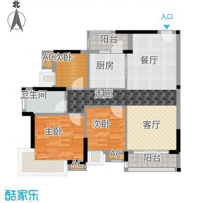 香市1号97.00㎡5栋标准层02、03面积9700m户型