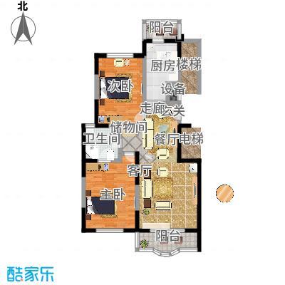 金苹果花园97.00㎡房型: 二房; 面积段: 97 -108 平方米; 户型