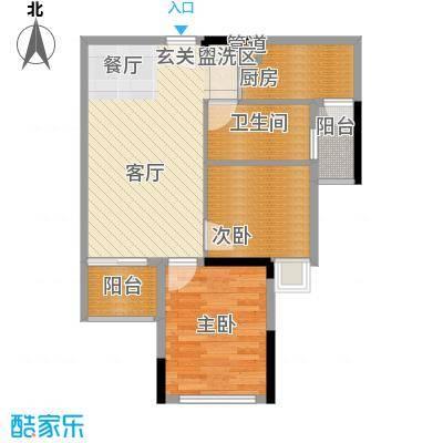 滨江公馆幸福ID58.40㎡17栋2-17面积5840m户型