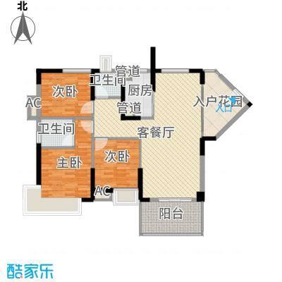 滨江公馆宾仕84.40㎡12栋1单元标面积8440m户型