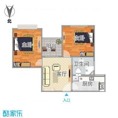 大宁龙盛雅苑64平米2房1厅全南