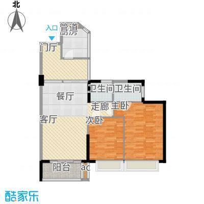 天御98.42㎡5号楼2-28层03、04号面积9842m户型