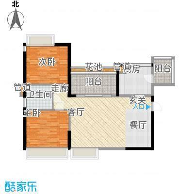 天御95.53㎡2号楼2-28层01、04号面积9553m户型