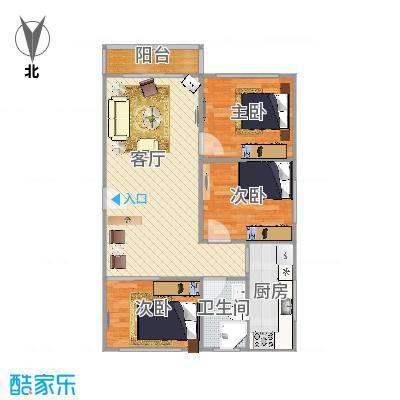 大宁龙盛雅苑83平米3房