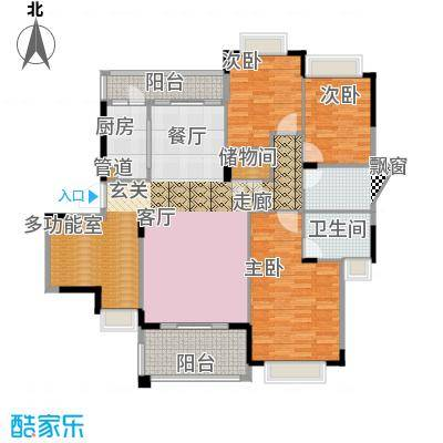 水岸豪庭141.64㎡23、26幢(103+面积14164m户型
