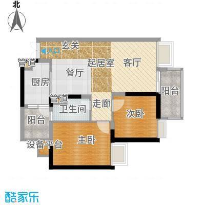 九龙1号79.00㎡A栋标准层04面积7900m户型