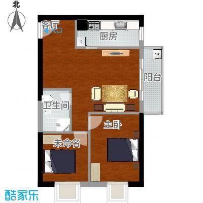 96平03户型两室两厅