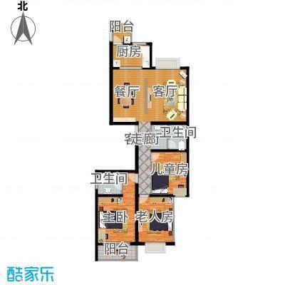 D户型152.55平三室两厅