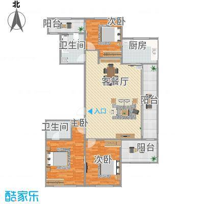 三室两厅两卫24号楼C1原图