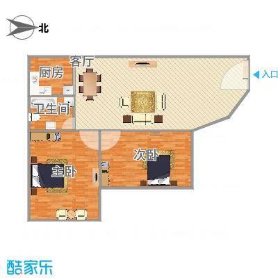 滨河花园104方606三室两厅