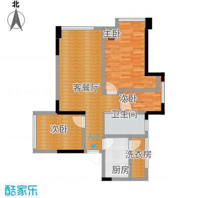 时代睿城74.00㎡A1户型3室1厅1卫