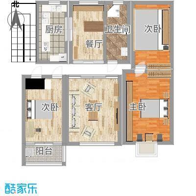 仙河镇120型三室两厅