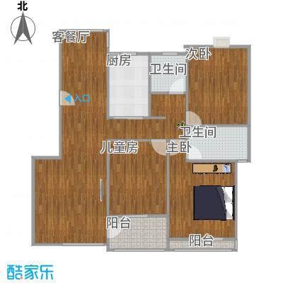 丽景雅苑122方C3户型三室两厅(装修)