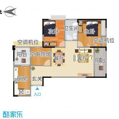 攀华国际广场Z3、Z7(2.3.6.7号房)户型两室两厅