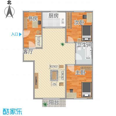 86平三室两厅
