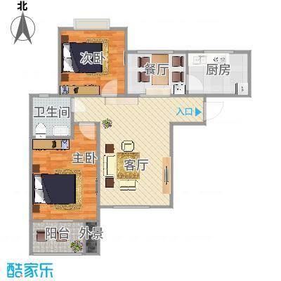 地质家园97A01户型两室两厅