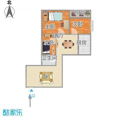 麒麟花园A12-91平三房13006636053家家顺刘远东绘图