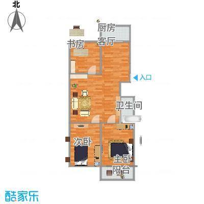 银轮花园90方三室一厅