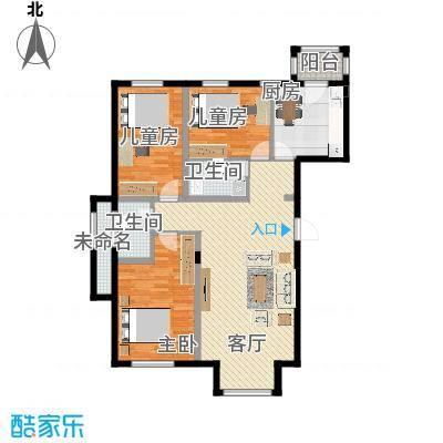 书香人家131.69㎡最新户型10室的模板