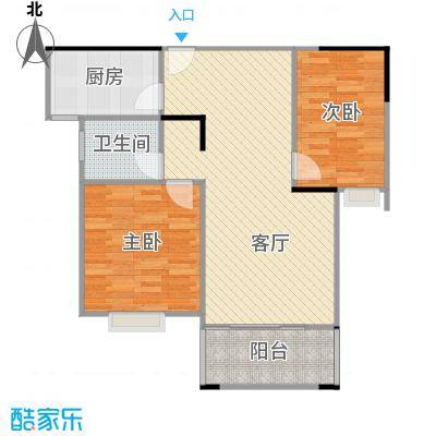 90方A1户型两室两厅的复制方案