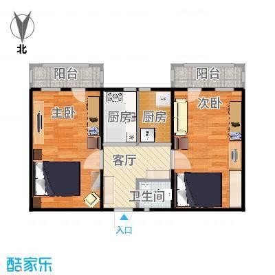 朝阳里43.32m²2室2厨1厅1卫