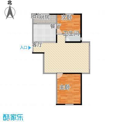 萧乡明珠90方A1户型两室一厅