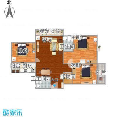 148平户型三室两厅