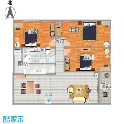 108方三房两厅
