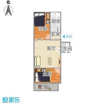 清河毛纺厂南小区的户型图
