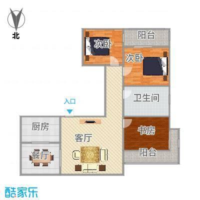 百合公寓沁梅苑三室二厅小高层125平