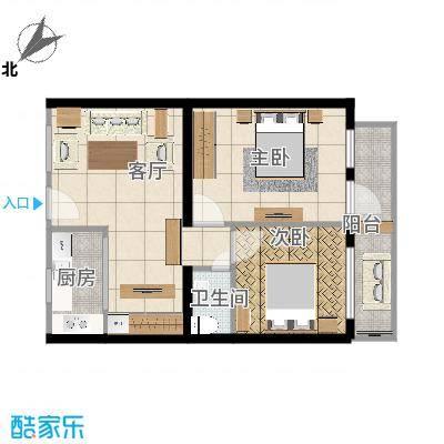 西罗园三区12号楼两室一厅
