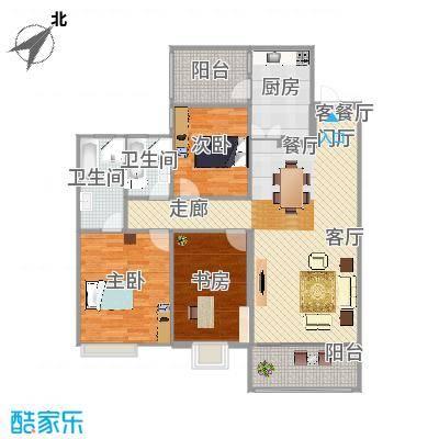 E户型三房两厅