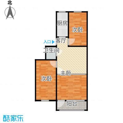 望京南湖渠西里69.28三室一厅大厅