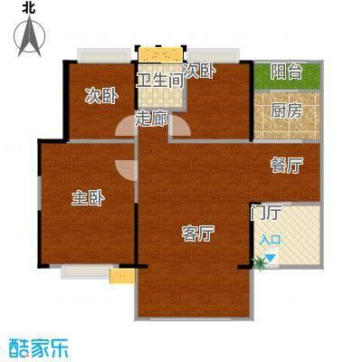 E户型3房2厅2卫