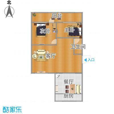 区委两室两厅户型图