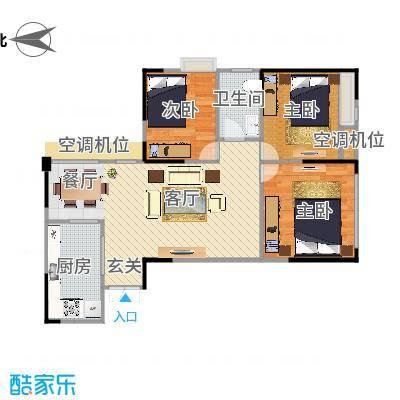 攀华国际广场Z3、Z7(2.3.6.7号房)户型两室两厅(改)