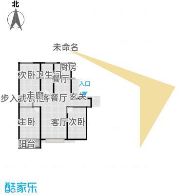 丽景盛园125.71㎡A1户型 3室2厅1卫 125.71㎡户型3室2厅1卫