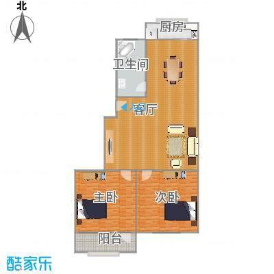 2室2厅83.6平