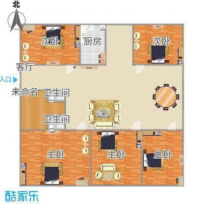 268平五室三厅三卫一厨