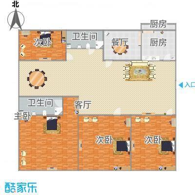 214平户型四室两厅两卫