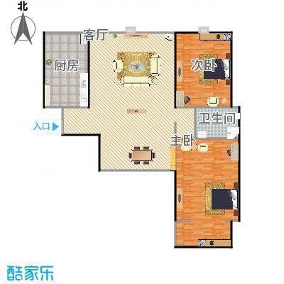 107两室两厅实际107的但户型是这样,具体尺寸不详细