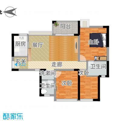 98平三房两厅两卫