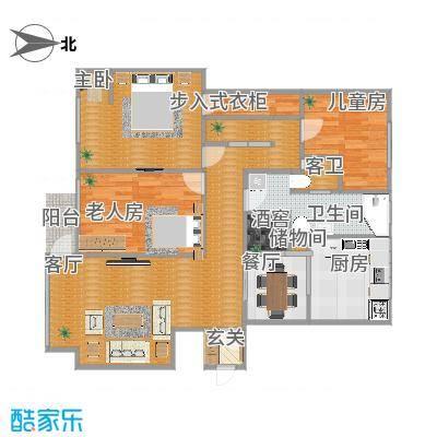 104 方 三室一厅一卫